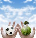 Sportliefdadigheid voor duurzaam concept Stock Afbeeldingen