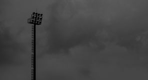 Sportlight in de regenende dag Royalty-vrije Stock Foto's