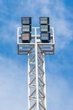 Sportlight  mast on Blue sky Stock Photography