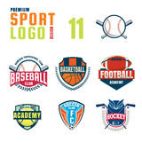 Sportlogo-Designsatz Stockfotos
