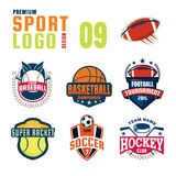 Sportlogo-Designsatz Lizenzfreie Stockfotografie