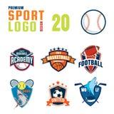 Sportlogo-Designsatz Lizenzfreies Stockfoto