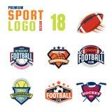 Sportlogo-Designsatz Lizenzfreies Stockbild