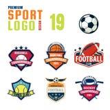 Sportlogo-Designsatz Stockbild