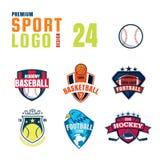 Sportlogo-Designsatz Lizenzfreie Stockbilder