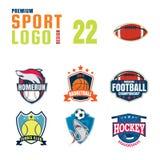 Sportlogo-Designsatz Stockbilder