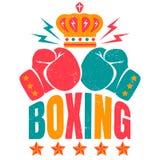 Sportlogo för att boxas vektor illustrationer