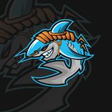 Sportlogo för haj e royaltyfri illustrationer