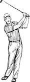 Sportman stock illustratie