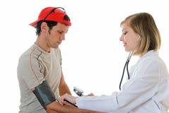 Sportman en arts Stock Afbeeldingen