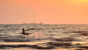 Sportman play kite surf Stock Photos