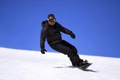 Sportman - Snowboarder. Royalty-vrije Stock Foto
