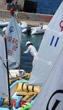 Sportmannen die voor de concurrentie opleiden Royalty-vrije Stock Foto