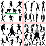 Sportmischungs-Schattenbildvektor Lizenzfreie Stockfotografie