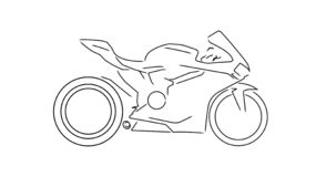 Sportmotorcykellinje illustration stock illustrationer