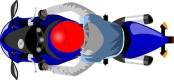 Sportmotorfiets met ruiter hoogste mening vector illustratie