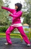 SportMuslimah kvinna Royaltyfri Bild