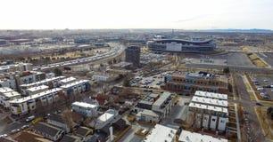Sportmyndighetsfält i Denver Colorado Arkivbild