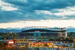 Sportmyndighetsfält på den höga mil i Denver Fotografering för Bildbyråer