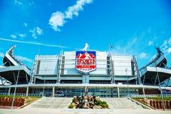 Sportmyndighetsfält på den höga mil i Denver Royaltyfria Bilder