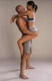 Sportowa fizyczna romantyczna para zdjęcia stock