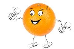 Sportowa pomarańcze obrazy stock