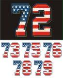 Sportowa ustalona liczby America flaga textured niebieski obraz nieba tęczową chmura wektora Zdjęcie Royalty Free