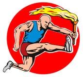 sportowcy pochodnia olimpijska Fotografia Stock