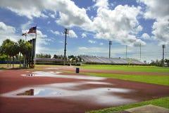 sportowe deszczów toru Obrazy Royalty Free