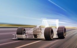 Sportowego samochodu kontur na drodze ilustracji