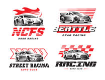 Sportowego samochodu loga ilustracja na białym tle Fotografia Stock