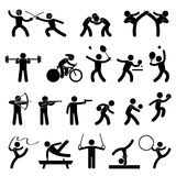 sportowej gry ikony salowy sport Obraz Royalty Free