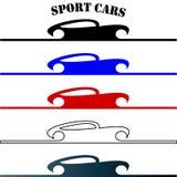 Sportowi samochody wręczają patroszonego loga royalty ilustracja