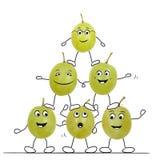 Sportowi winogrona royalty ilustracja