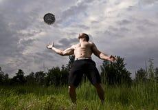 Sportowiec i zegar Fotografia Stock