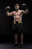 Sportowiec w bokserskich rękawiczkach Obraz Royalty Free