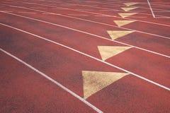 Sportowy bieg śladu zakończenia abstrakt Zdjęcia Stock