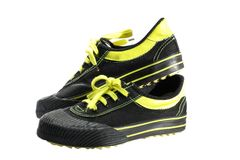 sportowy czarny obuwie Zdjęcie Royalty Free
