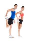 Sportowy mężczyzna i kobieta Zdjęcia Royalty Free