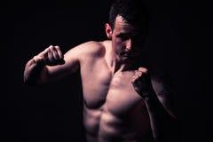 Sportowy mężczyzna sprawności fizycznej model Obraz Stock
