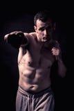 Sportowy mężczyzna sprawności fizycznej model Zdjęcia Stock