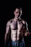 Sportowy mężczyzna sprawności fizycznej model Obraz Royalty Free