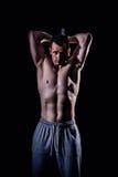 Sportowy mężczyzna sprawności fizycznej model Fotografia Royalty Free