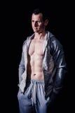 Sportowy mężczyzna sprawności fizycznej model Obrazy Royalty Free