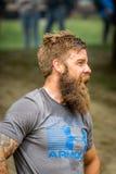 Sportowy mężczyzna z pełną brodą Fotografia Royalty Free