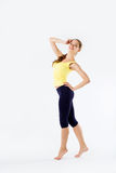 Sportowy młody piękny dziewczyna portret długi zdjęcia stock
