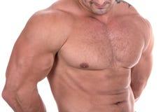 Sportowy seksowny męskiego ciała budowniczy zdjęcia royalty free