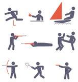 Sportpictogrammen Royalty-vrije Stock Afbeeldingen