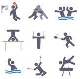 Sportpictogrammen Stock Afbeelding