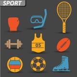Sportpictogrammen Stock Afbeeldingen